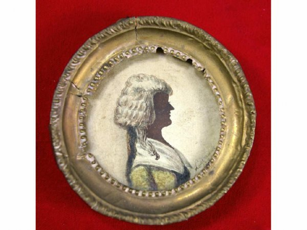 21: 1794 SIGNED PORTRAIT MINIATURE OF A LADY
