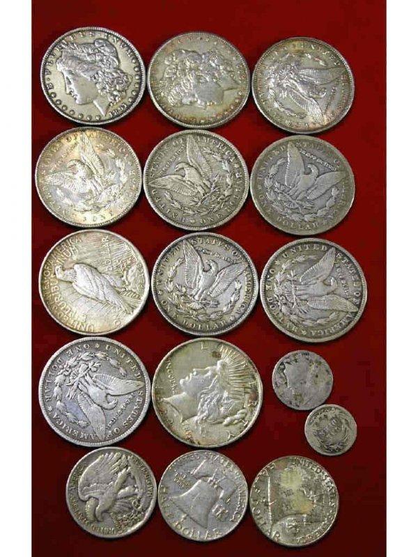 186: 16-PIECE SILVER COIN GROUP