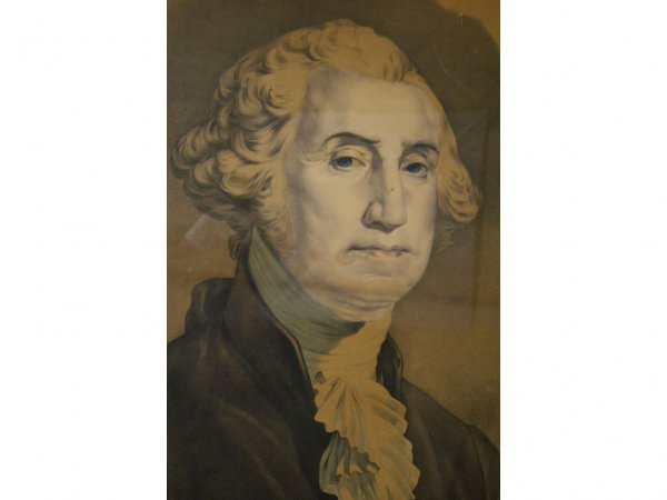 4: VICTORIAN CHROMOLITHOGRAPH OF GEORGE WASHINGTON