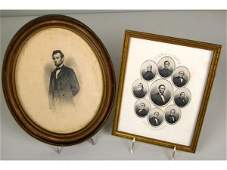 146 FRAMED ENGRAVING OF LINCOLN AND HIS CABINET