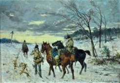 JAN VAN CHELMINSKI (Poland/NY, 1851-1925)