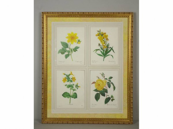 9: PAIR OF FLORAL OFFSET PRINTS, 29x23in.