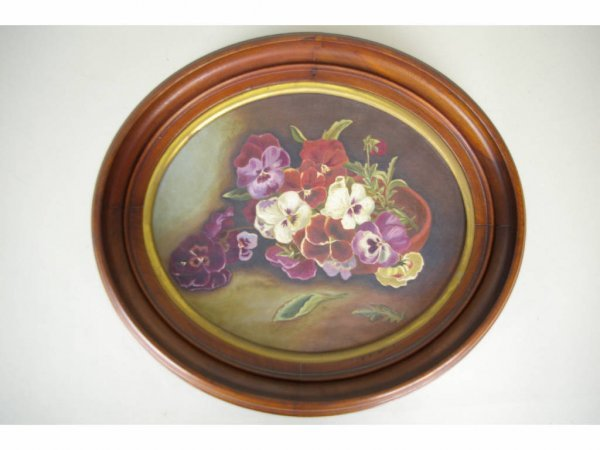 15: VICTORIAN PANSY PAINTING