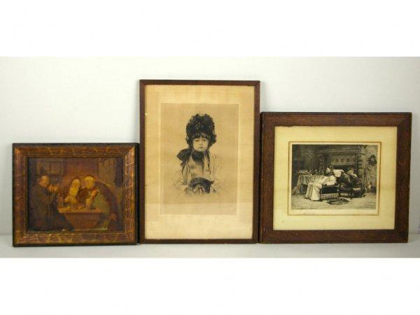 19: THREE VINTAGE ARTWORKS