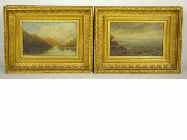 4: PAIR OF OIL PAINTINGS