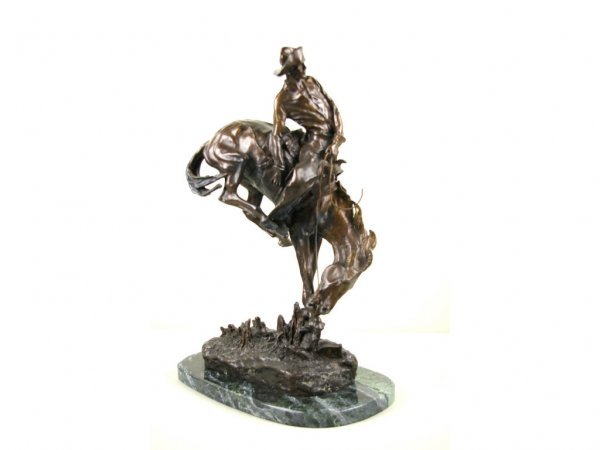 16: WESTERN BRONZE AFTER FREDERICK REMINGTON, OUTLAW