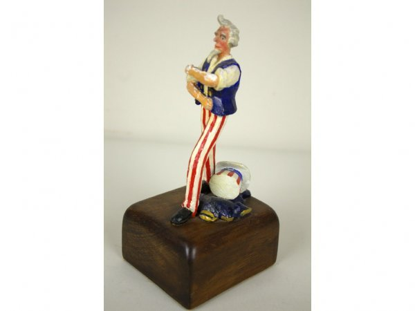 20: FRANK GRAF WOOD CARVING OF UNCLE SAM