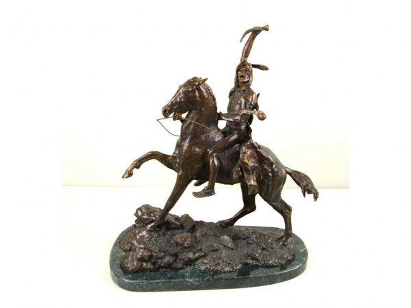 23: WESTERN BRONZE AFTER FREDERICK REMINGTON, SCALP