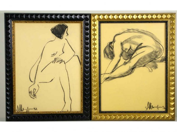 3: TWO NUDE ARTWORKS SIGNED ALLEN KAY
