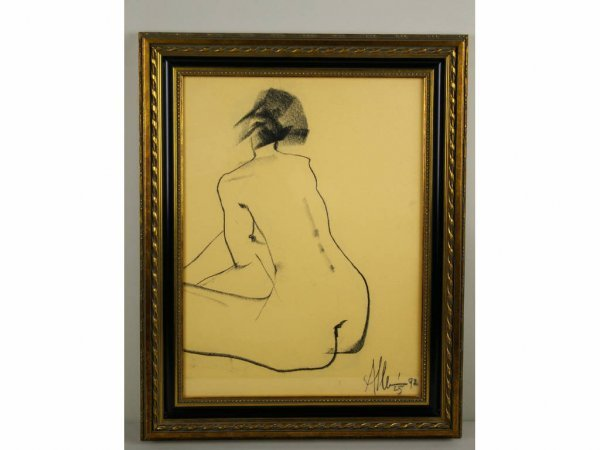4: THREE NUDE ARTWORKS SIGNED ALLEN KAY