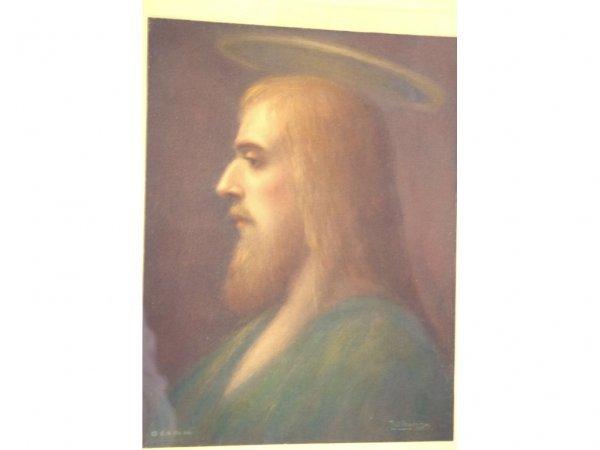 17: PRINT OF CHRIST SIGNED PAUL HANDRICH