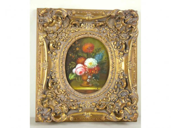 18: COMTEMPORARY FLORAL STILL LIFE PAINTING