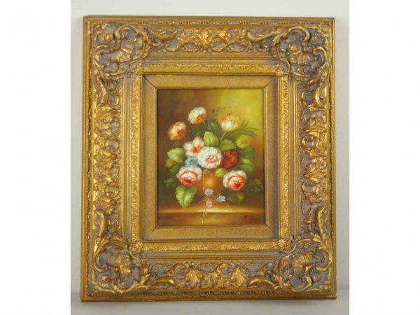 19: CONTEMPORARY FLORAL STILL LIFE PAINTING