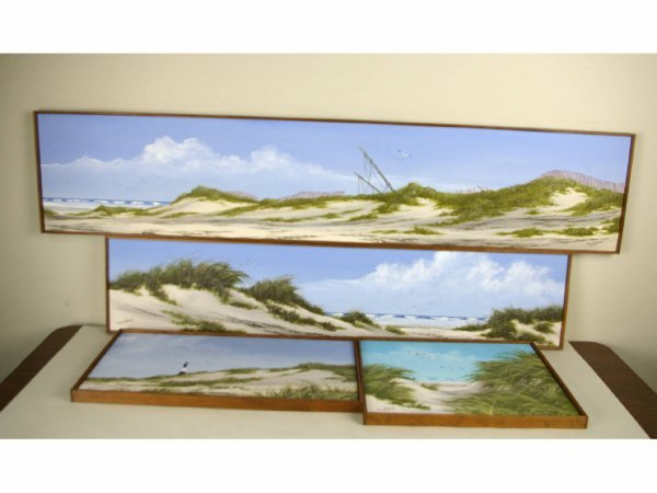 21: FOUR BEACHSCAPE PAINTINGS BY SUZY AALUND