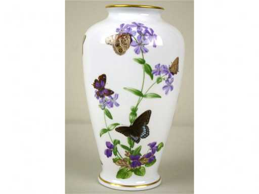 213 Franklin Mint Butterfly Vase By John Wilkinson