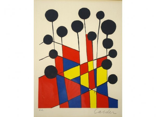 2: ALEXANDER CALDER COLOR LITHOGRAPH