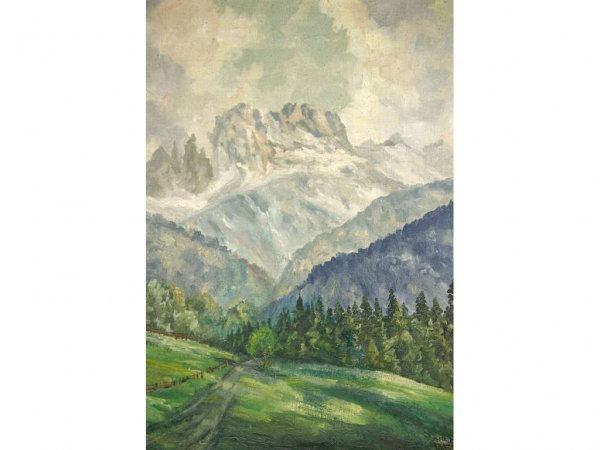 11: MOUNTAIN LANDSCAPE SIGNED ADOLF BOCK