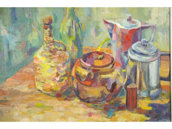 15: STILL LIFE OIL PAINTING BY GORDON STEVENSON