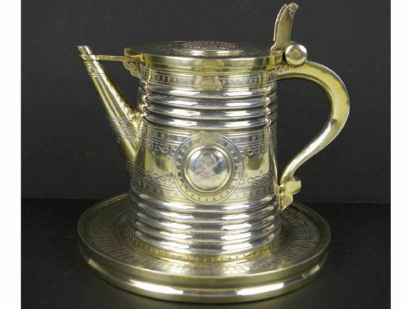 RUSSIAN SILVER TANKARD WITH STAND