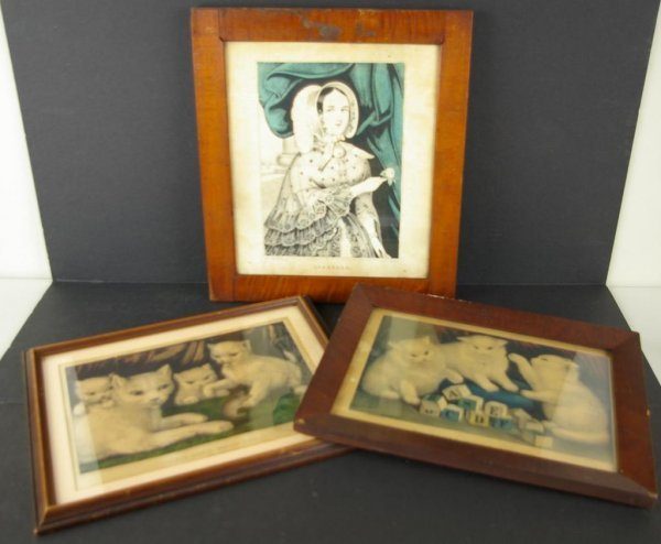 15: THREE HAND-COLORED LITHOGRAPHS