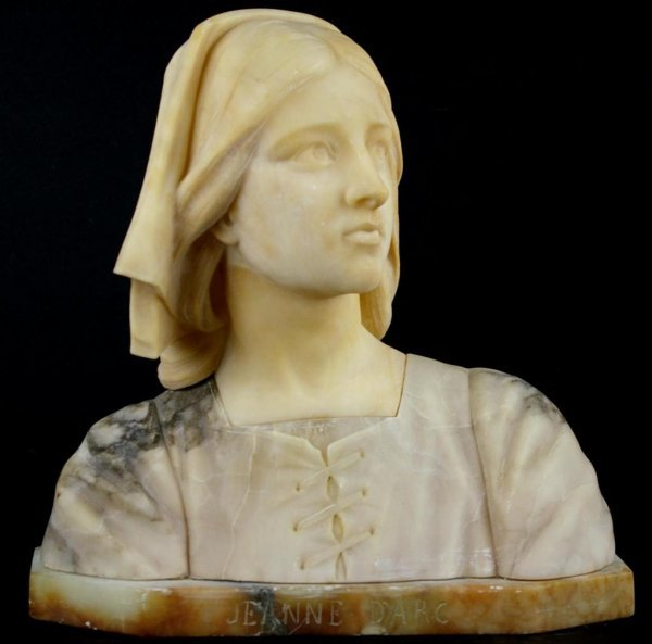 24: CARVED BUST OF JEANNE D'ARC, 14x14in.