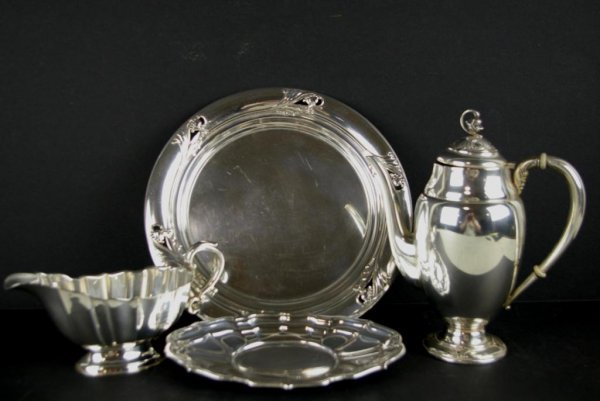 172: FOUR STERLING SILVER TABLEWARES