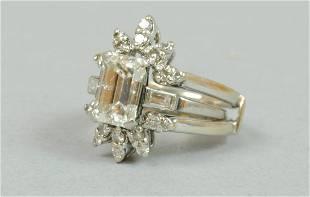 PLATINUM DIAMOND ENGAGEMENT RING, 2.25CT