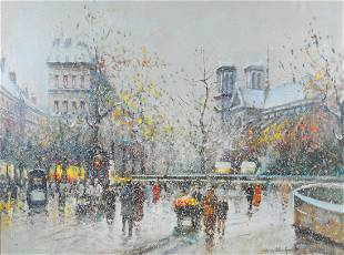 AFTER ANTOINE BLANCHARD - PARISIAN STREET SCENE