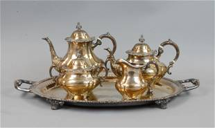 (4) PIECE REED & BARTON STERLING COFFEE SERVICE