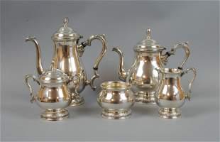 (5) PIECE INTERNATIONAL STERLING TEA SERVICE