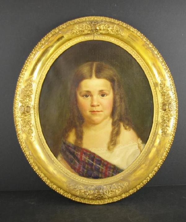 1: PORTRAIT OF ELIZABETH CLAGGETT IN TARTAN WRAP