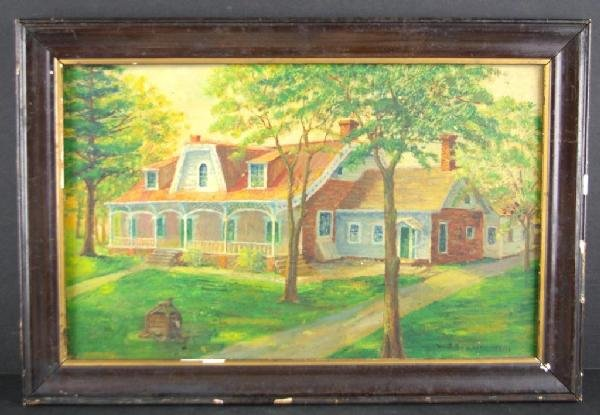 22: PAINTING OF LOCAL HISTORIC HOME BY W.S. BOGART