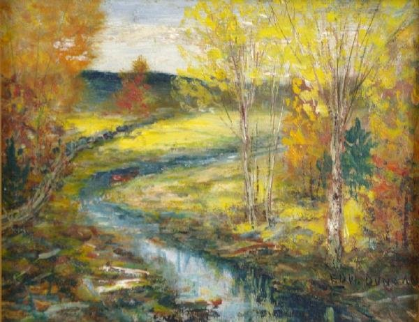 24: LANSCAPE PAINTING WITH STREAM SIGNED EDW. DUNCAN