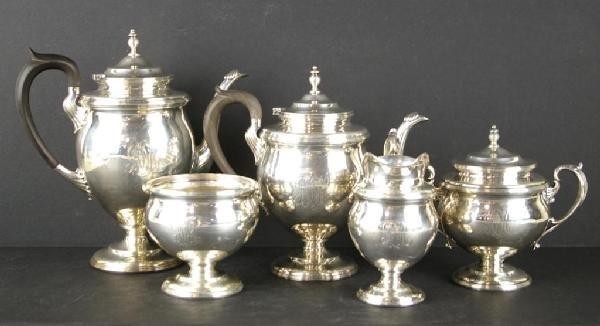 134: J.E. CALDWELL & CO. STERLING COFFEE & TEA SET