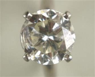 180: 4.0 CARAT PLATINUM DIAMOND ENGAGEMENT RING