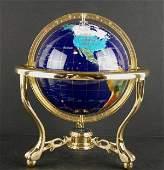 317 WORLD GLOBE WITH INLAID SEMIPRECIOUS STONES