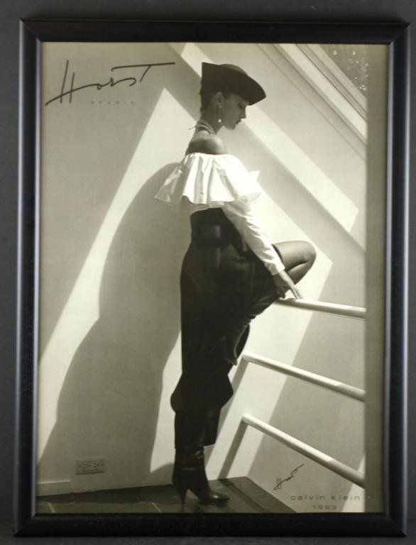 9: TWO HORST P. HORST FRAMED FASHION POSTERS
