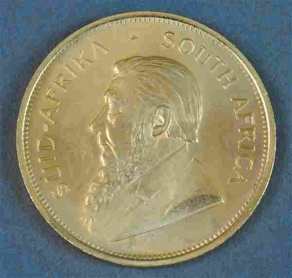 1982 SOUTH AFRICAN KRUGERRAND GOLD COIN