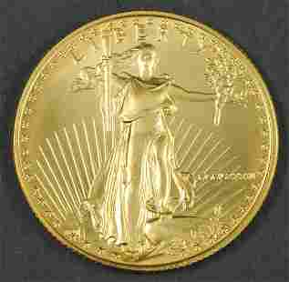1986 AMERICAN EAGLE $25 GOLD COIN