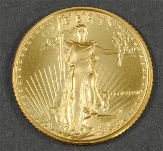 1986 AMERICAN EAGLE $5 GOLD COIN