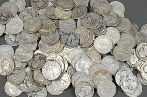 APPROX. 170 US SILVER QUARTER COINS