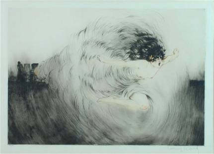 LOUIS ICART ETCHING - VOICE OF THE CANON