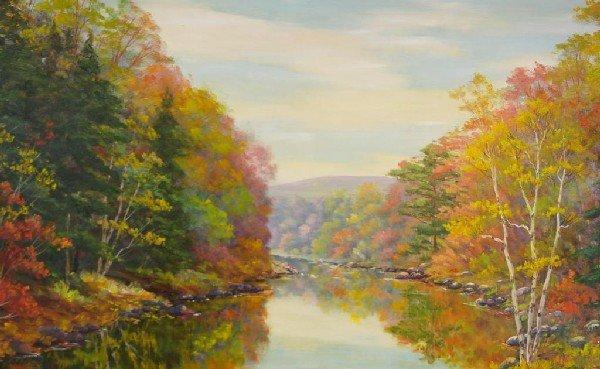 "6: CLARENCE IRA DREISBACH (American, 1903-2001) ""Autumn"
