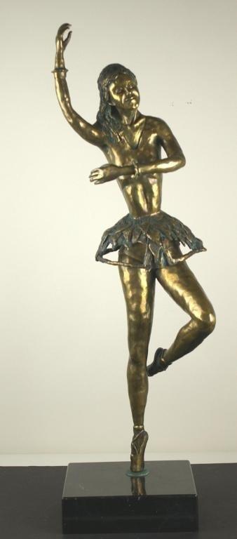 20: BRONZE BALLERINA SCULPTURE OF LARGE SIZE contempora
