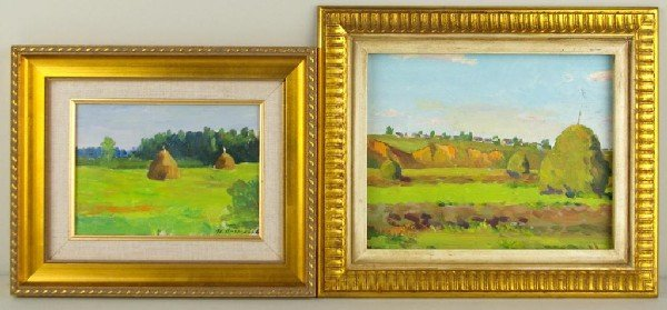 23: IVAN VASSILIEV (Russian, 1930-), TWO LANDSCAPES one