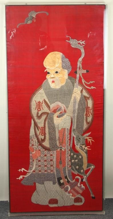 24: LARGE SIZE EMBROIDERY OF AN IMMORTAL appears to be
