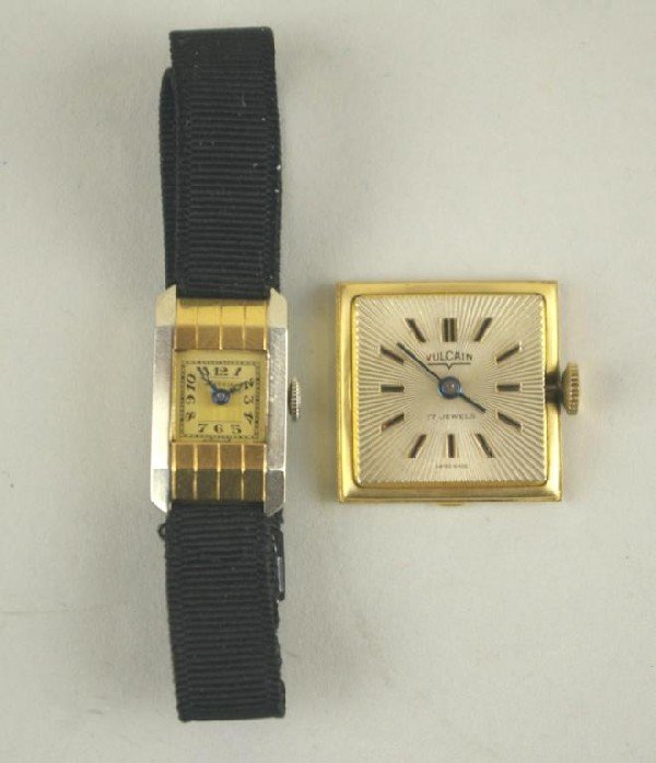 170: TWO GOLD WATCH ITEMS including a 14K Juvenia ladie