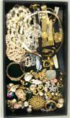 208 40 PIECE COSTUME JEWELRY GROUP including pins ea