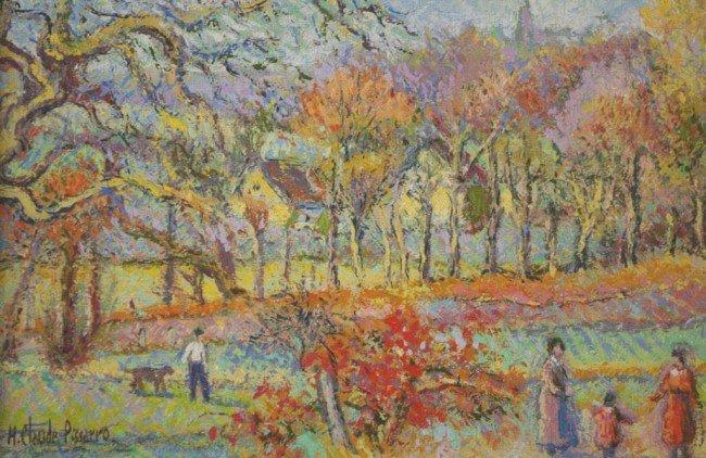 "3: H. CLAUDE PISSARRO (French, b.1935) ""Le Crimson Roug"