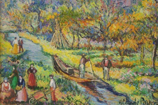 """4: H. CLAUDE PISSARRO (French, b.1935) """"La Barque du Ja"""